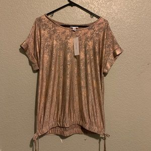 CK Rose Gold Snake Print Blouse